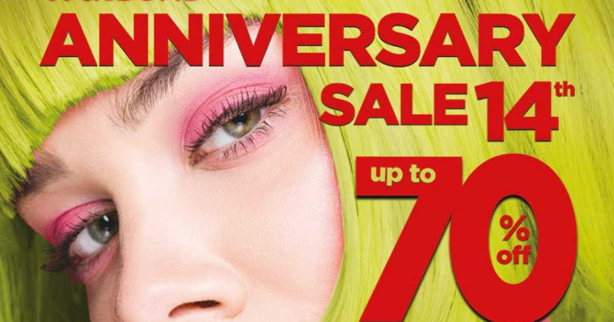 Katalog Promo Watsons 14th Anniversary Sale Up To 70% Off