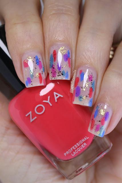 Zoya Dreamin' Abstract Nail Art