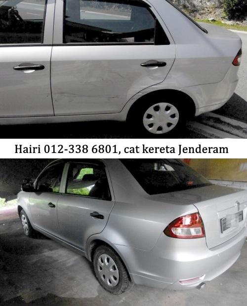 Cat kereta murah di kawasan Jenderam