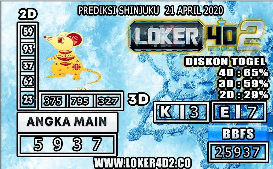 PREDIKSI TOGEL SHINJUKU LUCKY 7 LOKER4D2 21 APRIL 2020