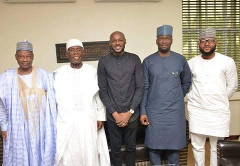2face Idibia pays courtesy visit to minister of Agricultur, Audu Ogbe