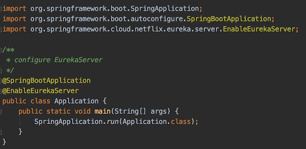 Spring Cloud @EnableEurekaServer Example