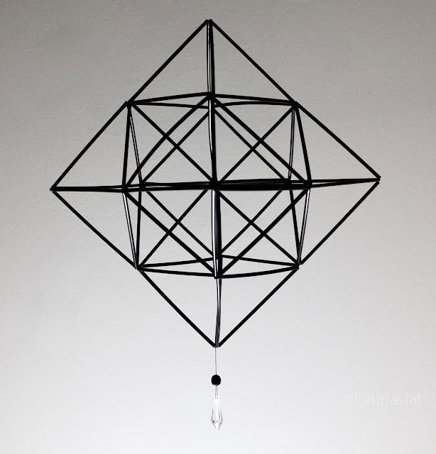 how to Himmeli, pillihimmeli, straw himmeli,askarteluidea, jouluaskartelu, muovipilleistä modern geometric