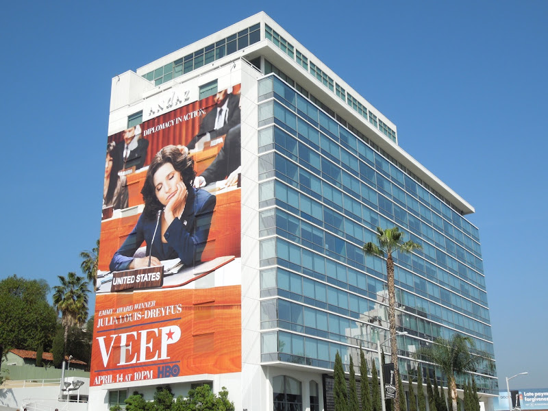 Veep season 2 TV billboard