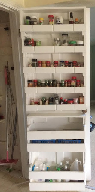 Ravenswick: Home Made Back of Door Spice Rack