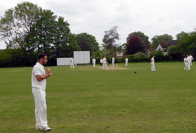 Cricket being played by Brigg Town at the Recreation Ground