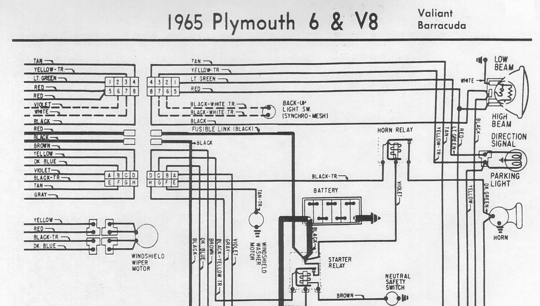 Free Auto Wiring Diagram: 1965 Plymouth Valiant or