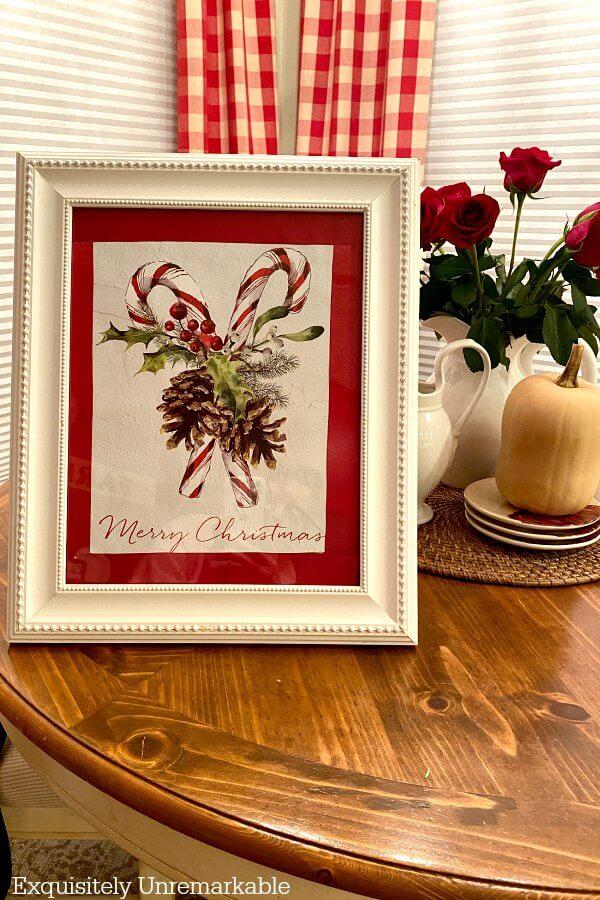 Framed Gift Bag For Christmas on table
