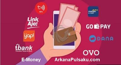 daftar harga e-money arkana pulsa, list harga saldo e-money arkana pulsa, beli saldo e money, harga e money custom, cara tambah saldo e-money, cara top up saldo e-money, cara jadi agen saldo e-money