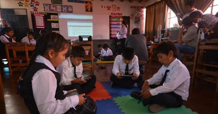 Escolares de Nasca mejoran en comprensión lectora gracias a tecnología digital