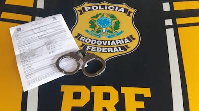 Em Delmiro Gouveia,  foragido da Justiça de Pernambuco é preso pela PRF/AL na BR-110