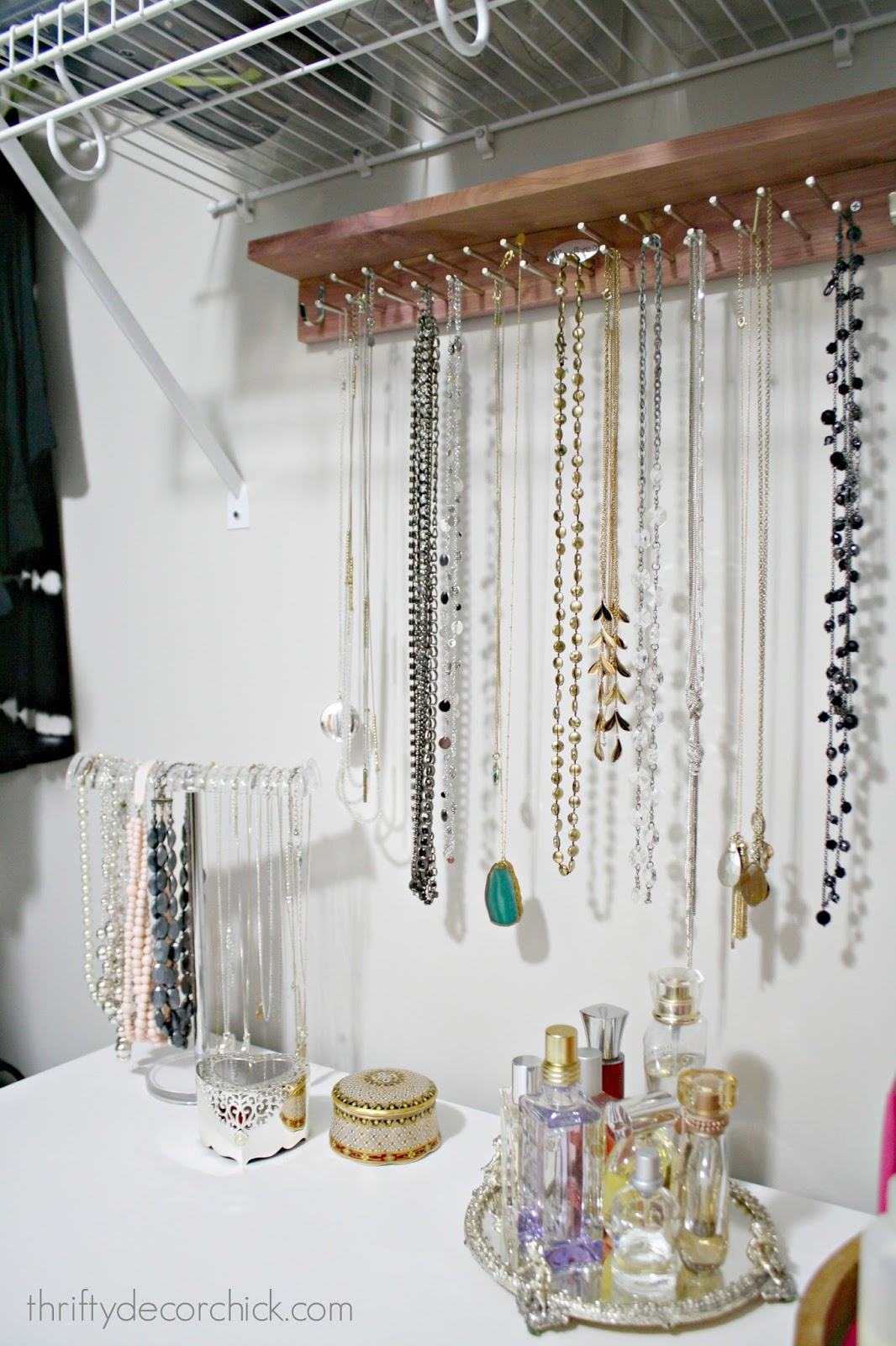 Jewelry and perfume display closet