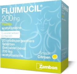 Fluimucil tegen keelpijn