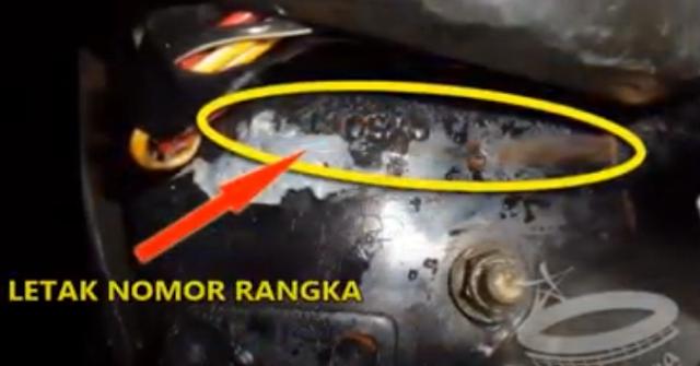 Letak Nomor Rangka dan Nomor Mesin Suzuki Tornado GS