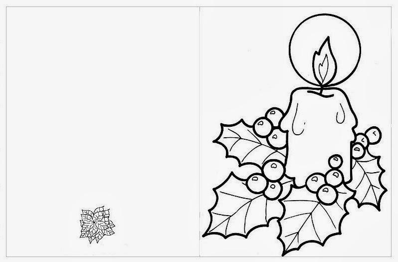 Maestra de primaria tarjetas de navidad para colorear - Dibujos para pintar navidad ...