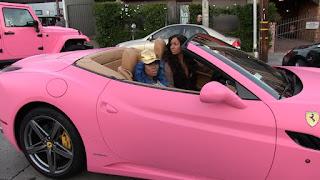 Blac Chyna Pink Car Amber Rose