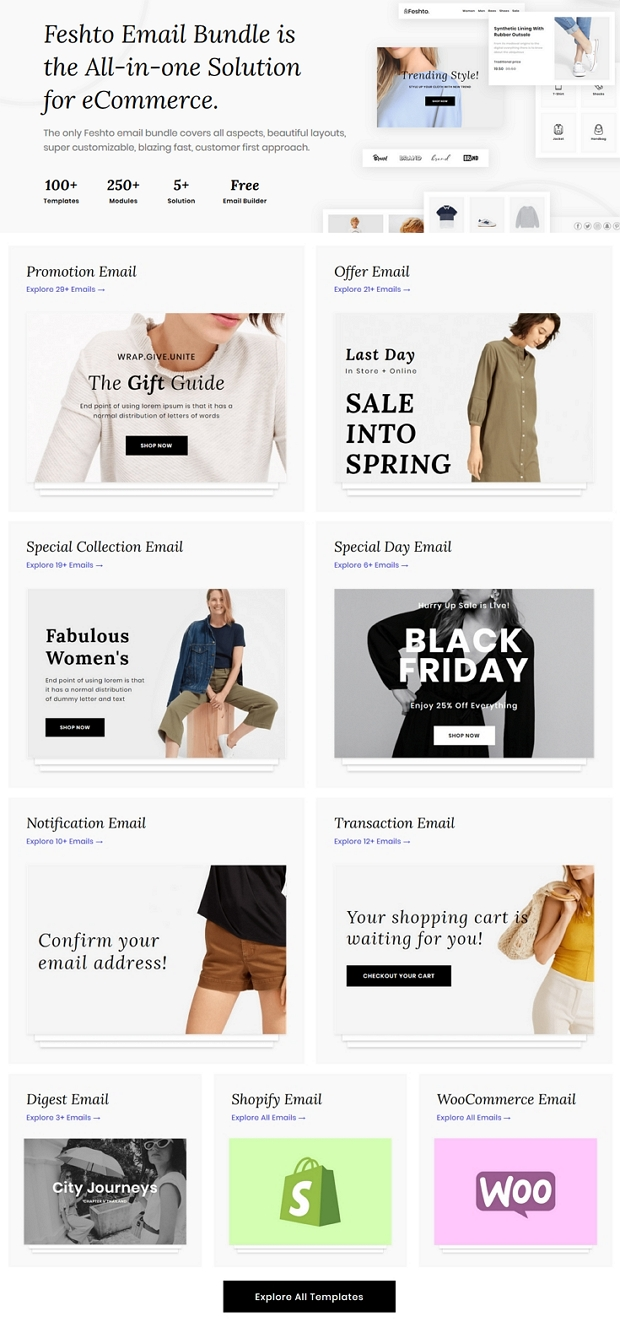 Email Newsletter Set Template