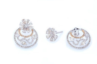 03 Entice all diamond detachable earrings
