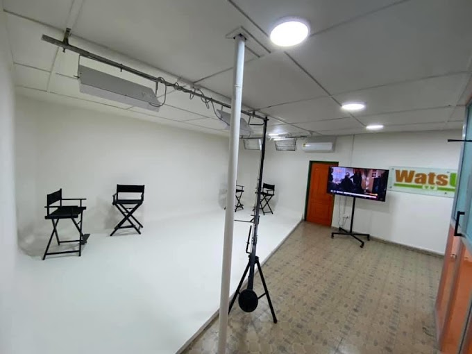 It's All Set; WatsUp TV outdoors new Office