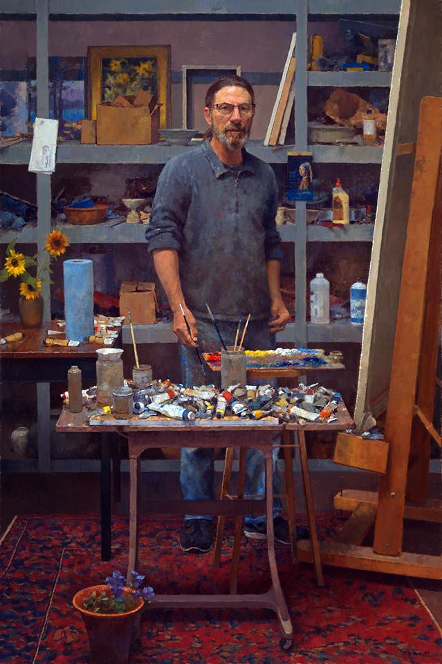 Jim McVicker, sef Portrait, fine arts, Portraits of Painters