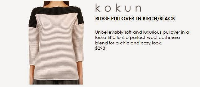 Ridge Pullover Sweater in Birch & Black