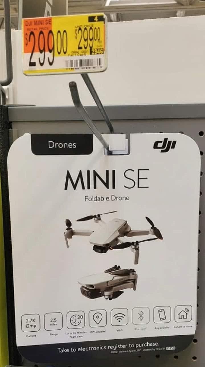 Упаковка DJI Mini SE в магазине