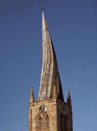 A Picture of the Crooked Spire of Chesterfield, England