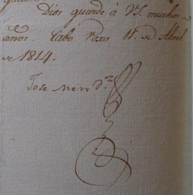 Jose Mendoza firma 1814