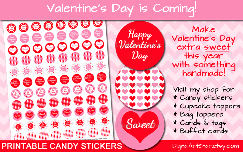 Shop for Valentine's Day Party Printables with DigitalArtStar