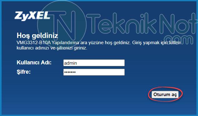 Zyxel Modem Wifi Adı ve Şifre Değiştirme