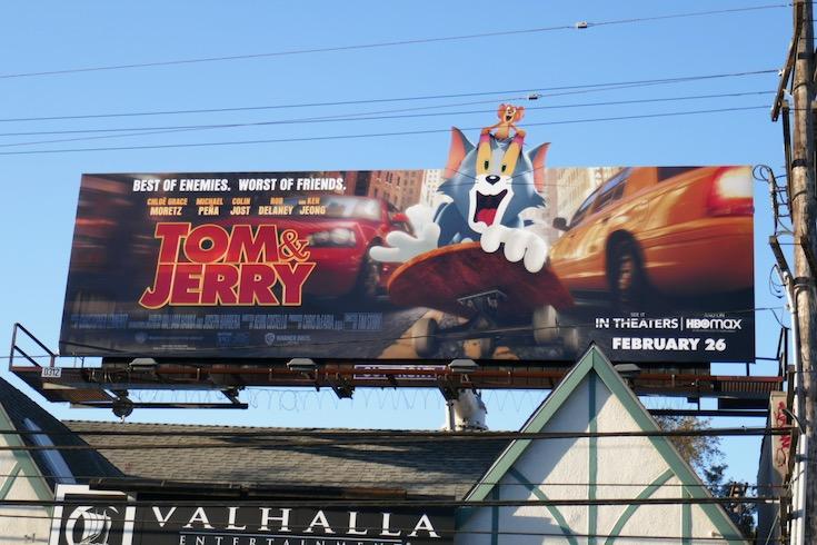 Tom and Jerry movie billboard