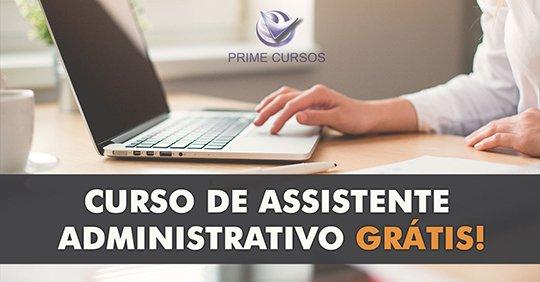 Curso de Assistente Administrativo Online Grátis