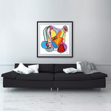 art prints, buy art prints, buy art, interior design, wall art, original art, modern multi coloured art, Sam Freek, cleckheaton, Yorkshire, artist, UK,