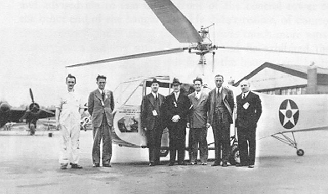 Orville Wright greets Sikorsky and his helicopter at Wright Field on 17 May 1942 worldwartwo.filminspector.com