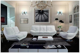 Black Gloss Living Room Furniture Combination