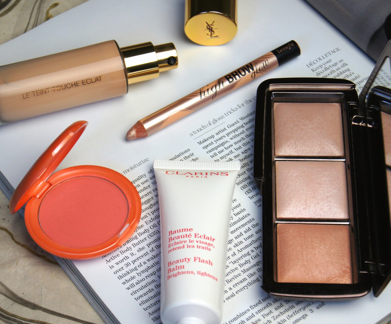 5 makeup products for glowing skin stila clarins ysl benefit hourglass
