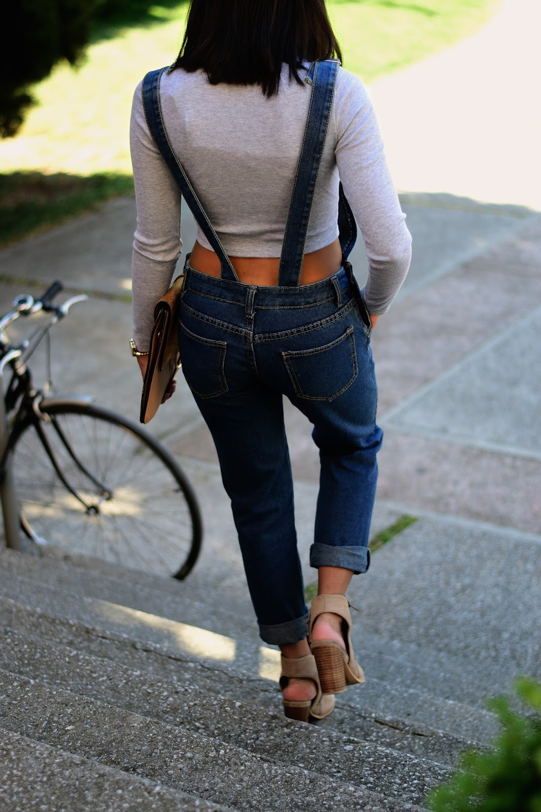 Dungarees outfit in spring