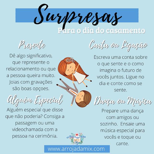 Ideias de Surpresas Para o Dia do Casamento