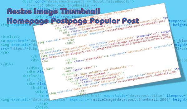 Cara Resize Image Thumbnail Homepage Postpage Popular Post Kompi Flexible