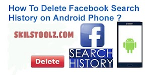 How do I delete my search history on my Facebook App?
