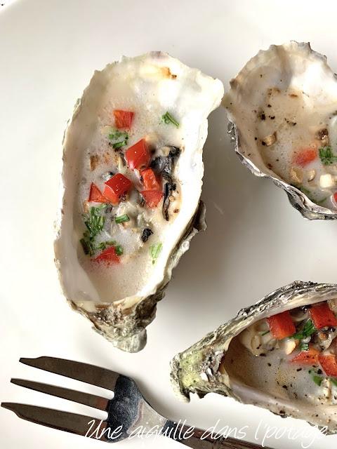 huître-chaude-facile-poivron-champignon-coco