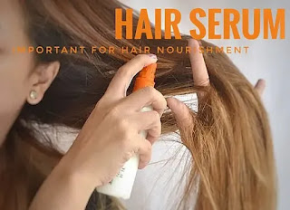 Applying hair serum