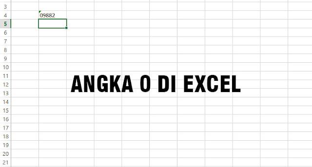 Cara Menambah Angka 0 (Nol) di Microsoft Excel Supaya Tidak Hilang