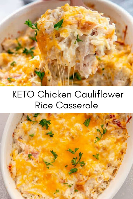 KETO Chicken Cauliflower Rice Casserole