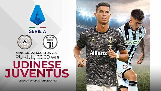 Link Live Streaming Udinese vs Juventus Seri A Italia
