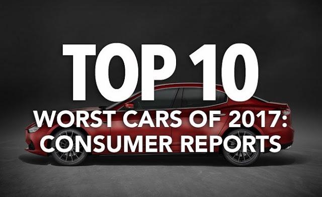10 xe ô tô tồi tệ nhất năm 2017