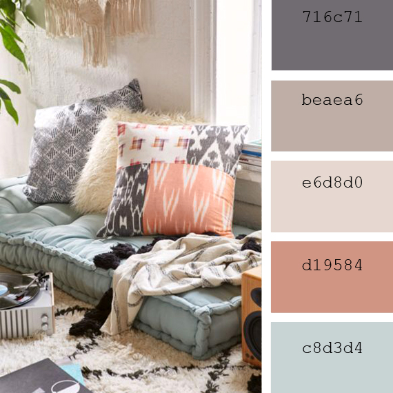 "Pantone color palettes ""Muted Clay"""