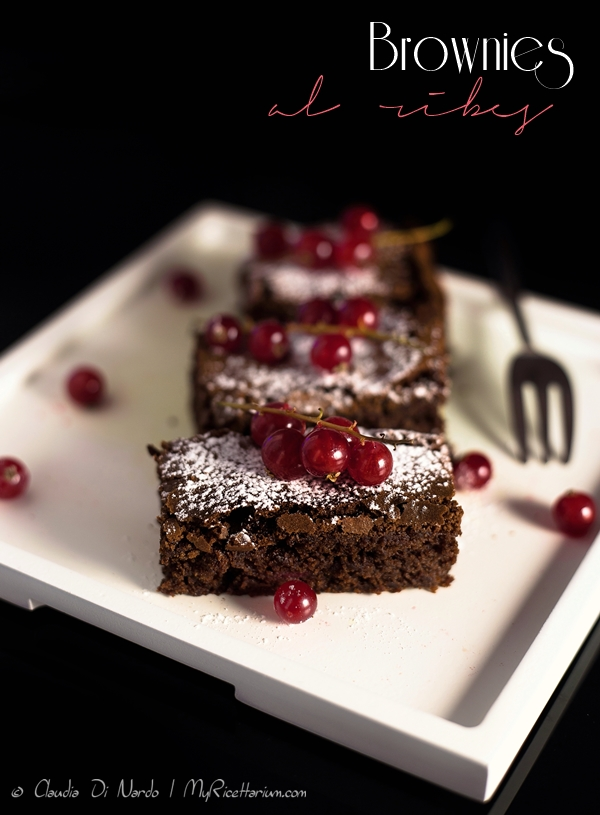Brownies al ribes