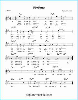 chord blue bossa lagu jazz standar