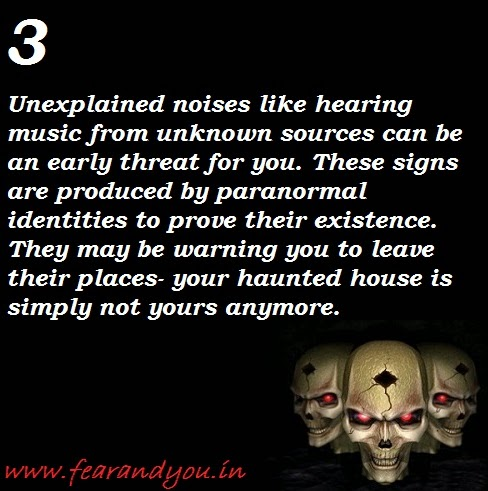 basic sign of hauntings